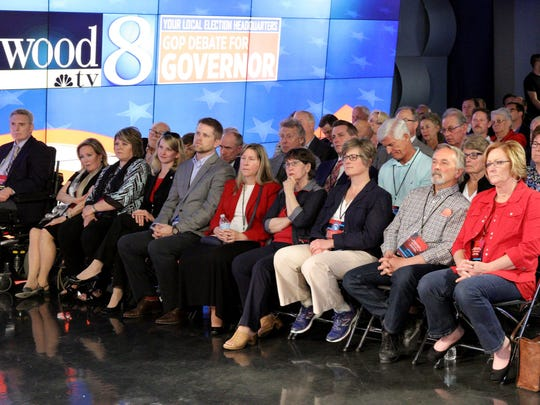 The audience during the one-hour Republican debate