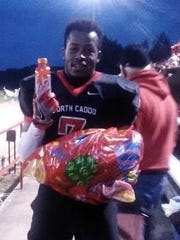 Red Jackson on senior night in Vivian.