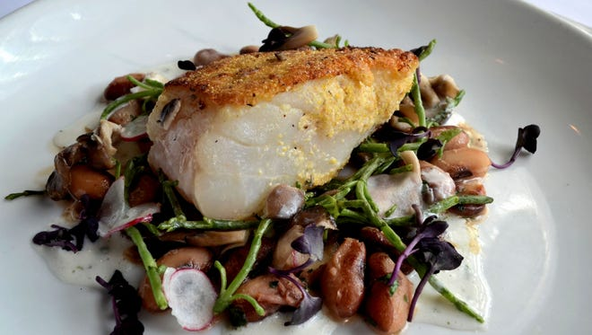 Cornmeal crusted day boat cod from the Frog and the Peach.