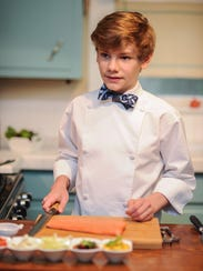 Logan Guleff in his Memphis kitchen.