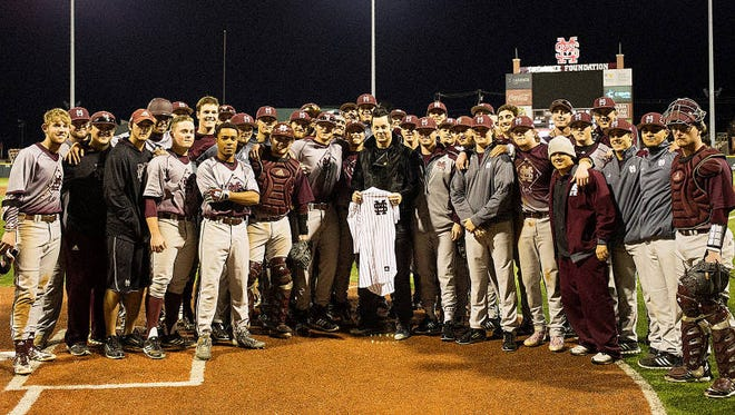 Jack White and the Mississippi State baseball team.