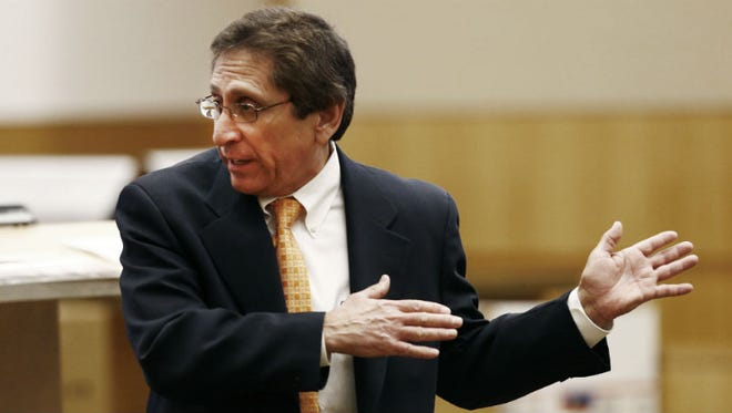 The prosecutor: Deputy County Attorney Juan Martinez, a prosecutor known for his gamesmanship, asked the jury to sentence Jodi Arias to death. She was given a sentence of a natural life in prison. His conduct during the trial came under scrutiny of defense attorneys when he was shown in the media posing for pictures with trial spectators outside the courthouse. He wrote a book about the trial and later faced charges against him alleging some of the contents of his book were sealed by court order. The charges were later dismissed, but he still faces various other ethics charges pending against him.
