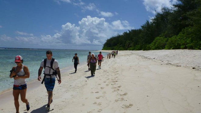 Tomorrow: Hike the long sandy beach south from Ritidian Point to secluded Falcona Beach and take some breaks for swimming and possibly snorkeling.