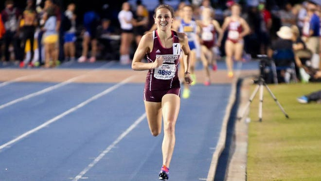 Mississippi State's Rhianwedd Price won the 1500m at the NCAA Track and Field Championships on Saturday.