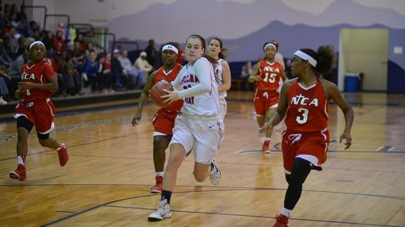 Tess Harris averaged a team-high 16 points a game for