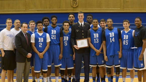 Christ School graduate Marshall Plumlee is a senior for the Duke basketball team.