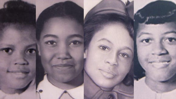 From left, Addie Mae Collins, Carole Robertson, Denise McNair and Cynthia Wesley were killed in the Sept. 15, 1963, bombing of the 16th Street Baptist Church in Birmingham. The church had been used to stage civil rights marches and activities in downtown Birmingham before being bombed by the KKK.