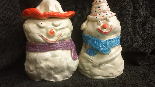 Children 5-13 can make snow people at the Ceramic Arts Center.