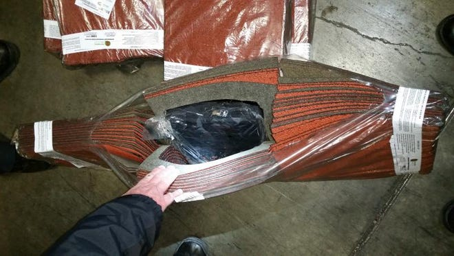 U.S. Customs and Border Protection officers on Thursday uncovered marijuana hidden inside roofing shingles at the Bridge of the Americas port of entry.