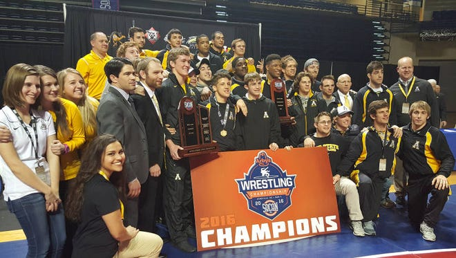 Appalachian State won this past weekend's Southern Conference wrestling tournament at UNC Asheville.