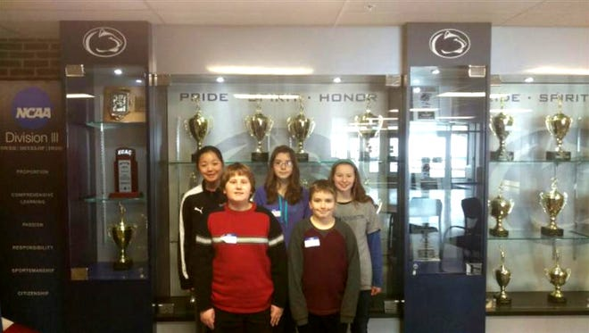 The Northern Middle School Math Counts team finished in seventh place at the Regional Competition. The team included Ben Humpert, Ryan Kreiger (front), Cara Klinger, Annika Pomeroy and Katie Anthony (back).