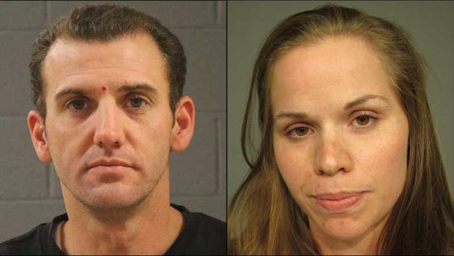 Gilbert police say Jennifer Smith (right) fatally shot husband Paul Smith at a Gilbert intersection, then drove away.