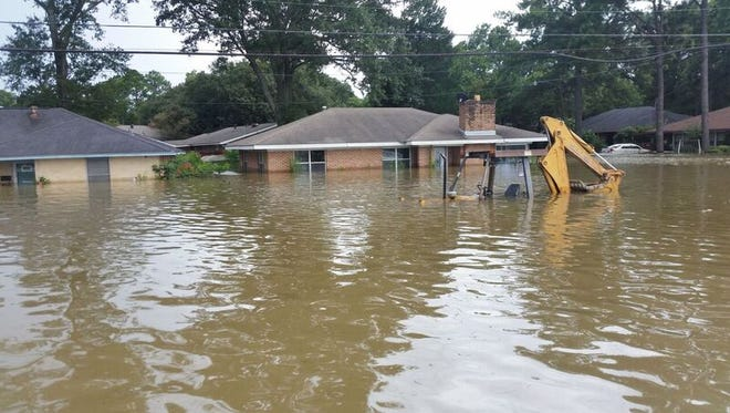 Flooding in southern Louisiana