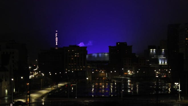 The blue glow from Ford Field's illuminated roof at night bothers some.