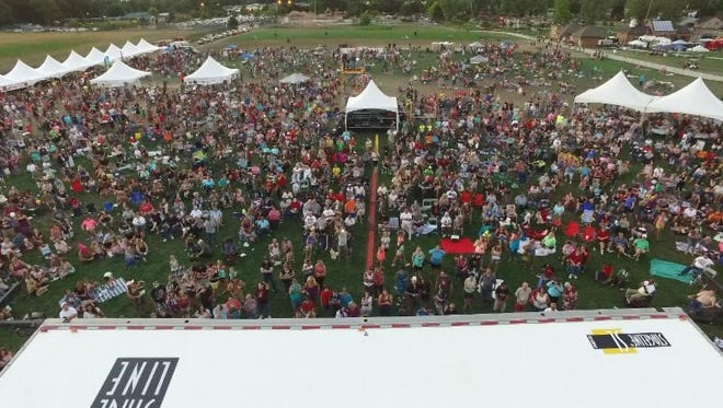 An overview of the crowd at Westland's Blues, Brews and Barbecue returning Friday and Saturday.