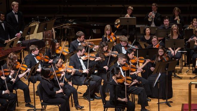 University of Evansville string ensemble is performing Thursday.