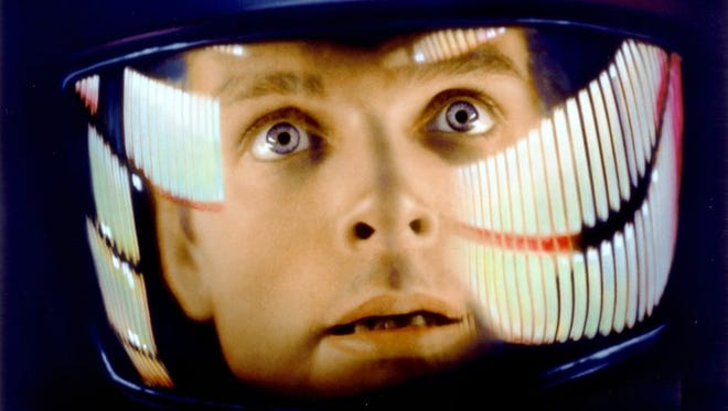 "Space traveler David Bowman (Keir Dullea) has computer issues in ""2001: A Space Odyssey"" (1968)."