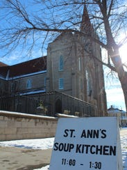 St. Ann's Cathedral's kitchen, providing hot meals