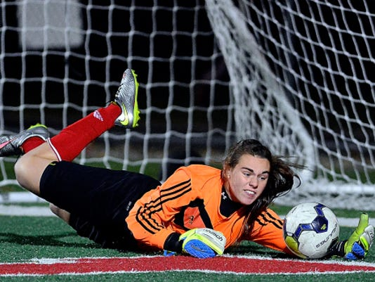 The Susquehannock Warriors girls' soccer team had never qualified for the PIAA tournament in their history until this year. Now, the Warriors, with goalie Ashley Stone, above,will face District 6 champion Central (Martinsburg) in the first round of the Class AA playoffs Tuesday at Hollidaysburg High School at 5 p.m.