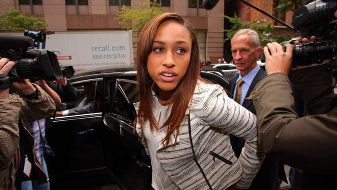 Janay Rice, wife of Ray Rice, spoke out about her husband's domestic abuse case and suspension.