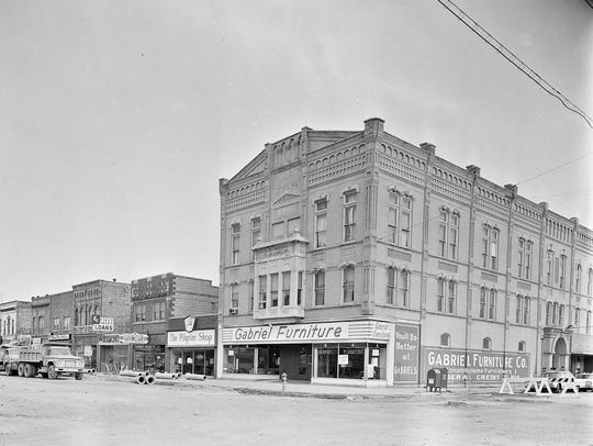 April 1967: Gabriel Furniture on College Ave. during