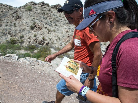 Ruben Aguilar and daughter Osiris Ortiz have hiked Mount Cristo Rey every year since 2010.