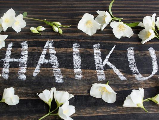 Word Haiku, Japanese Poetry, with Jasmine Flowers