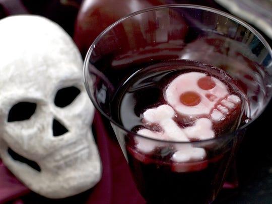 Plain Greek yogurt frozen into a skull and crossbones