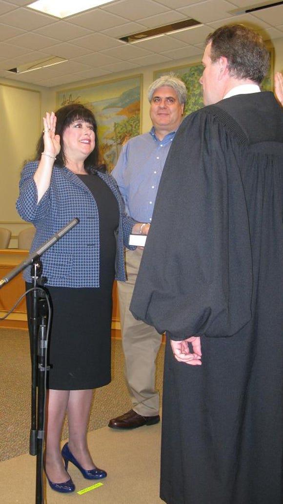 Amy Steklof (Town Clerk) was sworn in by the Honorable Craig J. Doran.