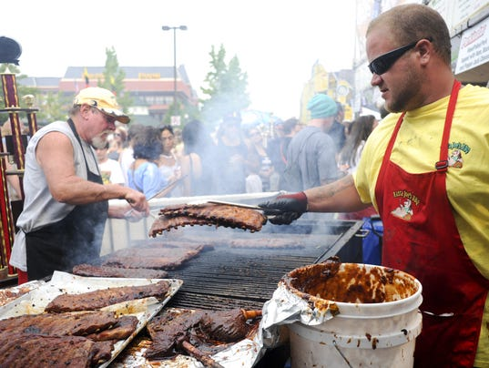 ... rib cook-off on Sunday, September 1, 2013. (Photo: Ross Brinkerhoff