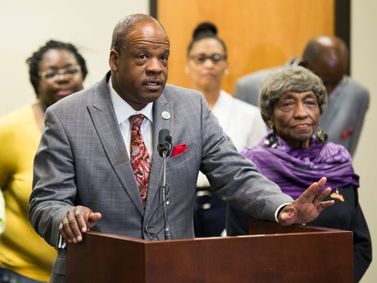 Greenville County Councilman Ennis Fant speaks during