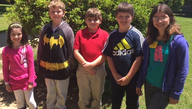 Lily Fruge, Broxton Knight, Mannix McGill, Ethan Spinner and Amy Fruge will take part in the Summer Gifted Program at the University of Southern Mississippi.