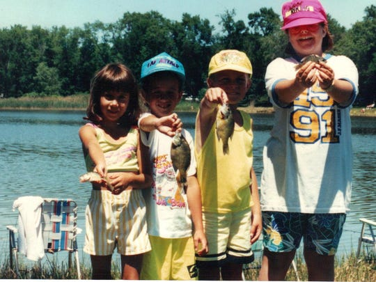 Kids fishing day in 1987.