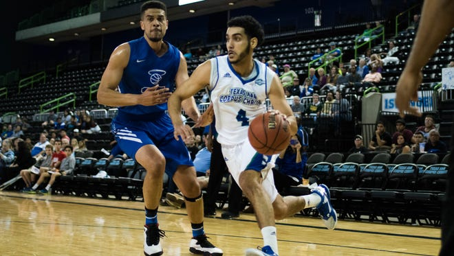 Texas A&M-Corpus Christi point guard Ehab Amin scored 18 points as the Islanders beat Our Lady of the Lake in the season opener on Friday at the American Bank Center.