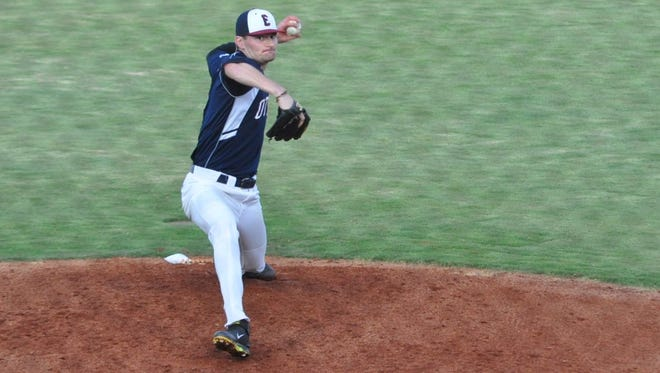 Evansville Otters' left-hander Chris Nunn struck out nine in five innings during his team debut Wednesday night against the Florence Freedom at Bosse Field.