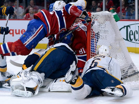 USP NHL: NASHVILLE PREDATORS AT MONTREAL CANADIENS S HKN CAN QU
