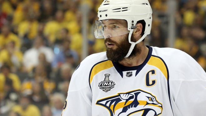 Predators captain Mike Fisher is 12th among active NHL players in games played.