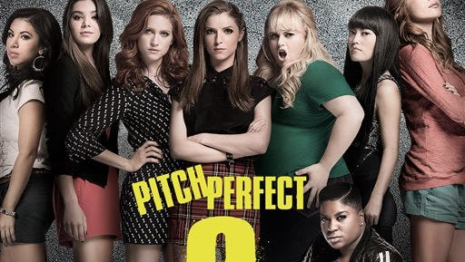 """This CD cover image released by Universal  Music Enterprises shows the original motion picture soundtrack for """"Pitch Perfect 2."""" (Universal  Music Enterprises via AP)"""