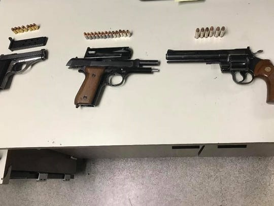 These pistols were found in an area several gang members