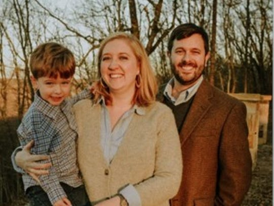 Matthew Farr, right, will teach religion classes and conduct daily chapel services for all lower and middle school students at the Episcopal School of Knoxville beginning in August. His family includes son Rohen, 3, and wife Elizabeth.