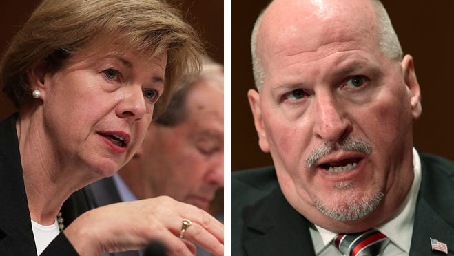 U.S. Sen. Tammy Baldwin (left) and Scott Mugno, nominee to be Assistant Secretary of Labor for the Occupational Safety and Health Administration.
