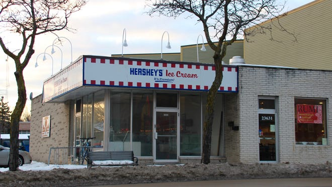 Hershey's has been closed for more than four years, and its big glass windows are streaked and dirty.