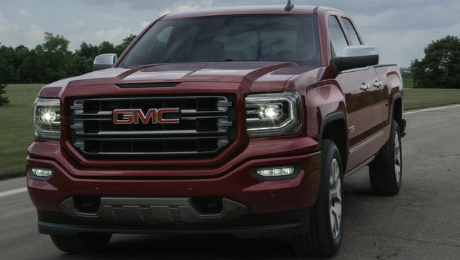 GMC has redesigned the front end of the Sierra pickup for 2016. The truck gets LED signature daytime running lights and LED headlights; new front fascia and grilles for each trim level; new LED fog lamps; new bumpers; and new LED taillights.