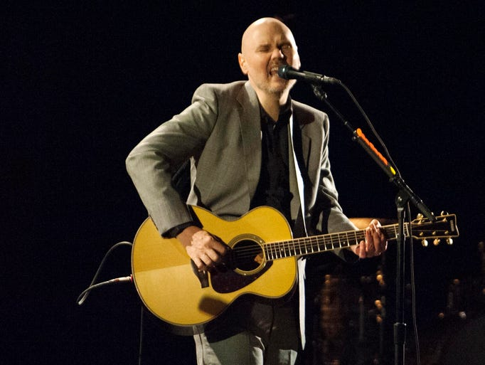 Solo Smashing Pumpkins frontman Billy Corgan sings