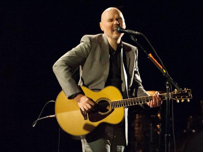 Solo Smashing Pumpkins frontman Billy Corgan sings