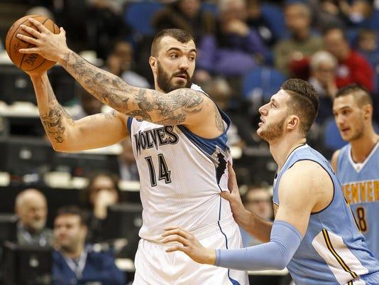 NBA: Denver Nuggets at Minnesota Timberwolves