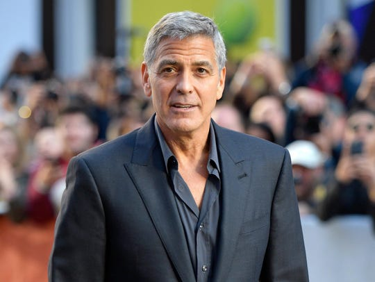 George Clooney attends the Sunday screening of the
