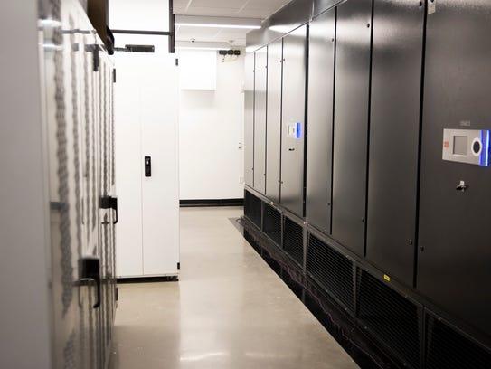 A glimpse into SkyLink's main data center Thursday,