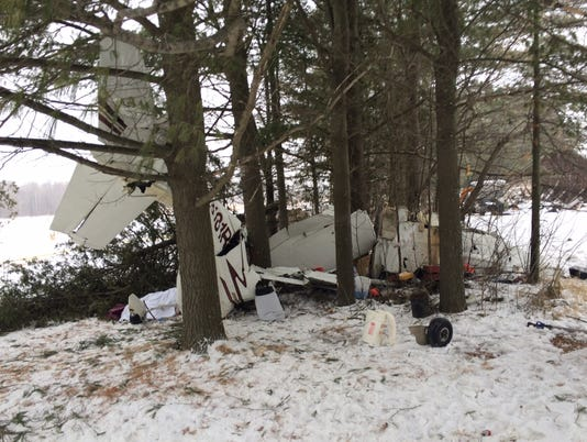 Cesna 182 crash near Owen Monday, January 26, 2015.