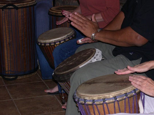 Visitors can bring their own percussion instruments